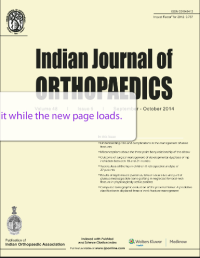 indian J of Orthopaedics Sept 2014